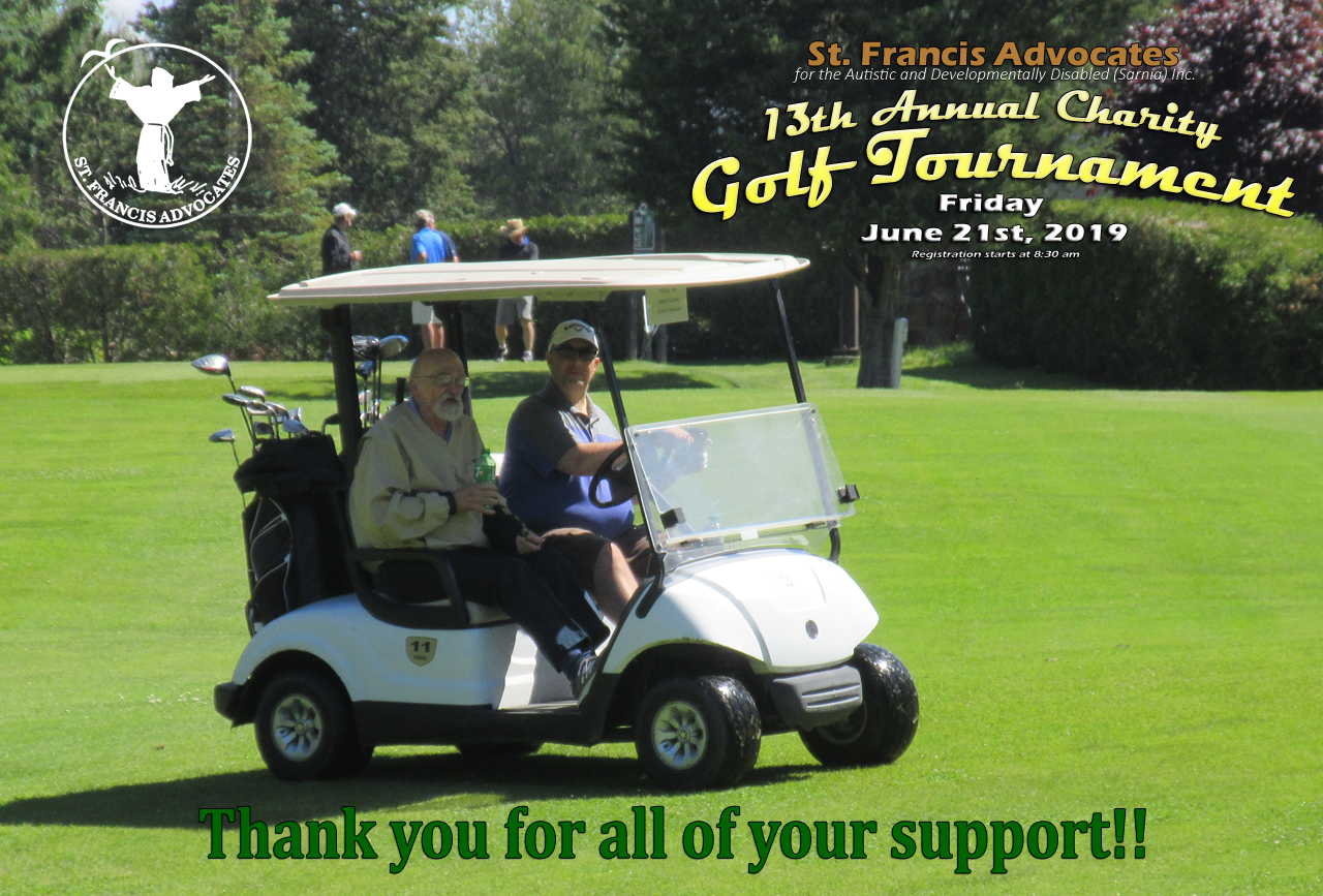 Thanks for your support with our Golf Tournament 2019